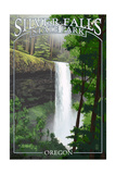 Silver Falls State Park, Oregon - South Falls Prints by  Lantern Press