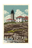 Jamestown, Rhode Island - Beavertail Lighthouse Prints by  Lantern Press