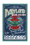Pasadena, Maryland - Blue Crabs Vintage Sign Posters by  Lantern Press