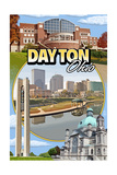Dayton, Ohio - Montage Scenes Poster by  Lantern Press