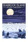 Seabrook Island, South Carolina - Sea Turtles Hatching Posters van  Lantern Press