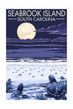 Seabrook Island, South Carolina - Sea Turtles Hatching Prints by  Lantern Press