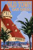 Old Town - San Diego, California - Hotel Del Coronado Posters by  Lantern Press