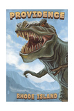 Providence, Rhode Island - T Rex Dinosaur Posters by  Lantern Press