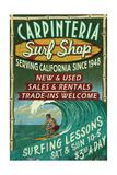 Carpinteria, California - Surf Shop Vintage Sign Prints by  Lantern Press