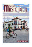 Ocean City, New Jersey - Music Pier Prints by  Lantern Press