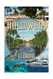 Hollywood, Florida - Montage Print by  Lantern Press