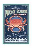 Tumwater, Washington - Dungeness Crab Vintage Sign Print by  Lantern Press