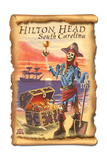 Hilton Head, South Carolina - Pirate and Plunder Prints by  Lantern Press