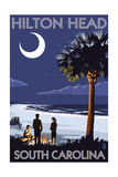 Hilton Head, South Carolina - Beach and Bonfire Posters by  Lantern Press