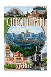 Cincinnati, Ohio - Montage Scenes Posters by  Lantern Press