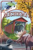 Michigan - Michigan Scene Montage Posters by  Lantern Press