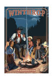 Winthrop, Washington - Cowboy Campfire Story Telling Print by  Lantern Press