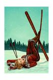Ski Pinup Prints by  Lantern Press