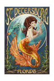 St. Petersburg, Florida - Mermaid Print by  Lantern Press