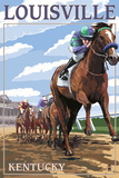 Louisville, Kentucky - Horse Racing Track Scene Prints by  Lantern Press