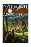Miami, Florida - Zombie Apocalypse Prints