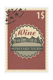 Vineyard Tours Stamp Posters