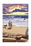 Bridgeport, Connecticut - Beach and Sunset Prints