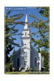 Port Gamble, Washington - Church Posters by  Lantern Press