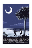 Seabrook Island, South Carolina - Palmetto Moon Beach Dancers Prints by  Lantern Press