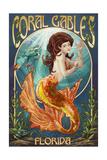 Coral Gables, Florida - Mermaid Art