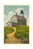 Block Island, Rhode Island - North Light Prints by  Lantern Press
