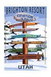 Brighton Resort, Utah - Ski Signpost Posters by  Lantern Press