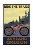 Ashland, Oregon - Ride the Trails Posters van  Lantern Press