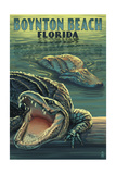 Boynton Beach, Florida - Alligators Posters by  Lantern Press
