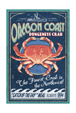 Oregon Coast - Dungeness Crab Vintage Sign Prints by  Lantern Press