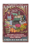 Traverse City, Michigan - Farmers Market Vintage Sign Prints by  Lantern Press