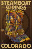 Steamboat Springs, Colorado - Boot Pair Prints by  Lantern Press