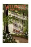 Willamette Valley, Washington - Deer in Forest Poster by  Lantern Press