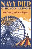 Chicago Illinois - Navy Pier Affiches par  Lantern Press