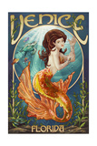 Venice, Florida - Mermaid Posters by  Lantern Press