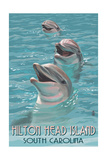 Hilton Head Island, South Carolina - Dolphins Posters by  Lantern Press