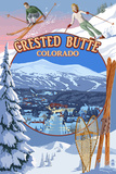 Crested Butte, Colorado - Ski Montage Posters by  Lantern Press