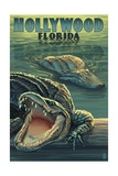 Hollywood, Florida - Alligators Posters by  Lantern Press