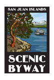 San Juan Islands Scenic Byway, Washington - Official Logo Poster by  Lantern Press