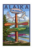 Anchorage, Alaska - Sign Destinations Posters by  Lantern Press