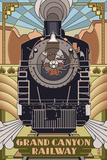 Grand Canyon Railway, Arizona - Deco Design Posters by  Lantern Press