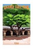 Garner State Park, Texas - Casa Grande Print by  Lantern Press
