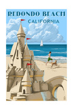 Redondo Beach, California - Sandcastle Prints by  Lantern Press