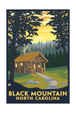 Cabin Scene - Black Mountain, North Carolina Prints by  Lantern Press