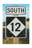 Outer Banks, North Carolina - Route 12 Sign 2- Lantern Press Poster Prints by  Lantern Press