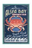 Alsea Bay, Oregon - Dungeness Crab Vintage Sign Posters by  Lantern Press