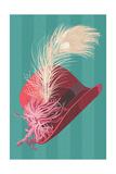 Flapper Hat Arte di  Lantern Press