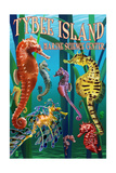 Tybee Island Marine Center - Tybee Island,Georgia - Sea Horses Print by  Lantern Press