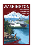 Washington - Ferry and Island Prints by  Lantern Press